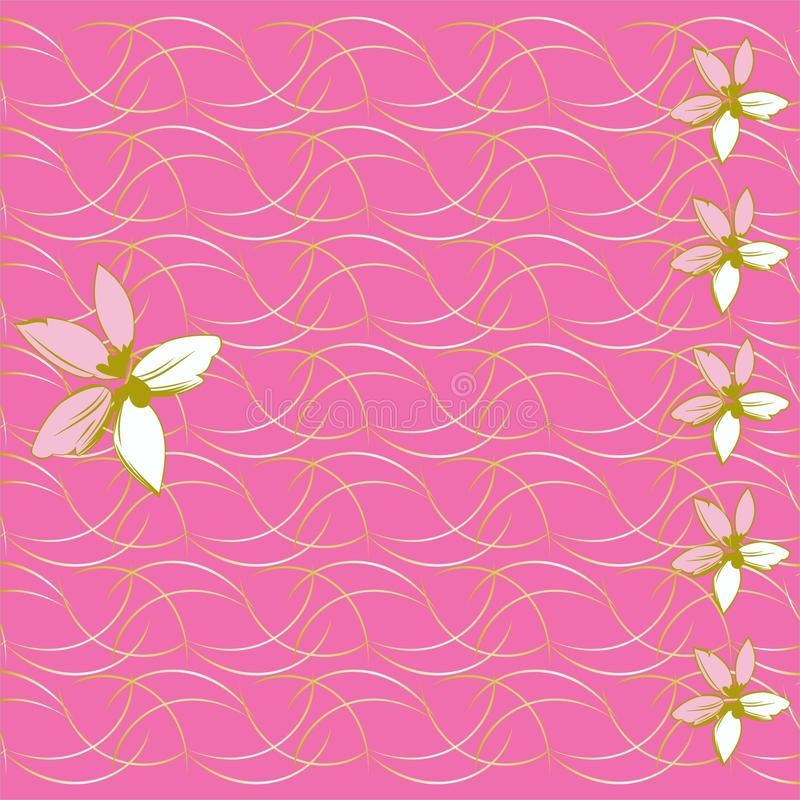 Floral background and mother's day card vector illustration