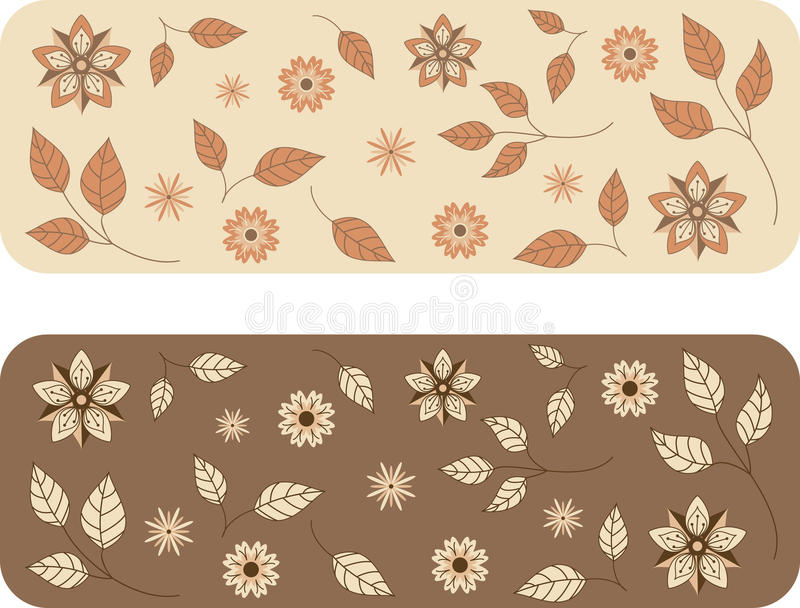 Floral background pattern royalty free illustration