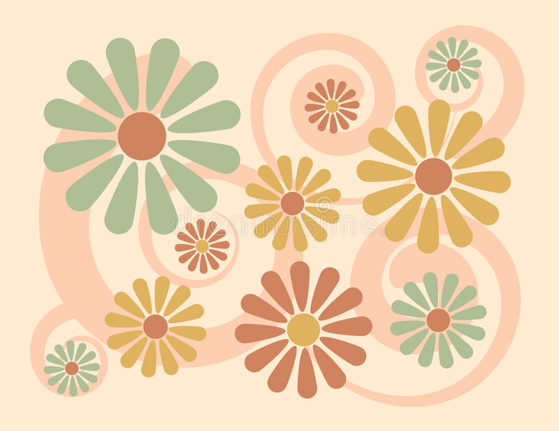 Floral Background_Peach vector illustration