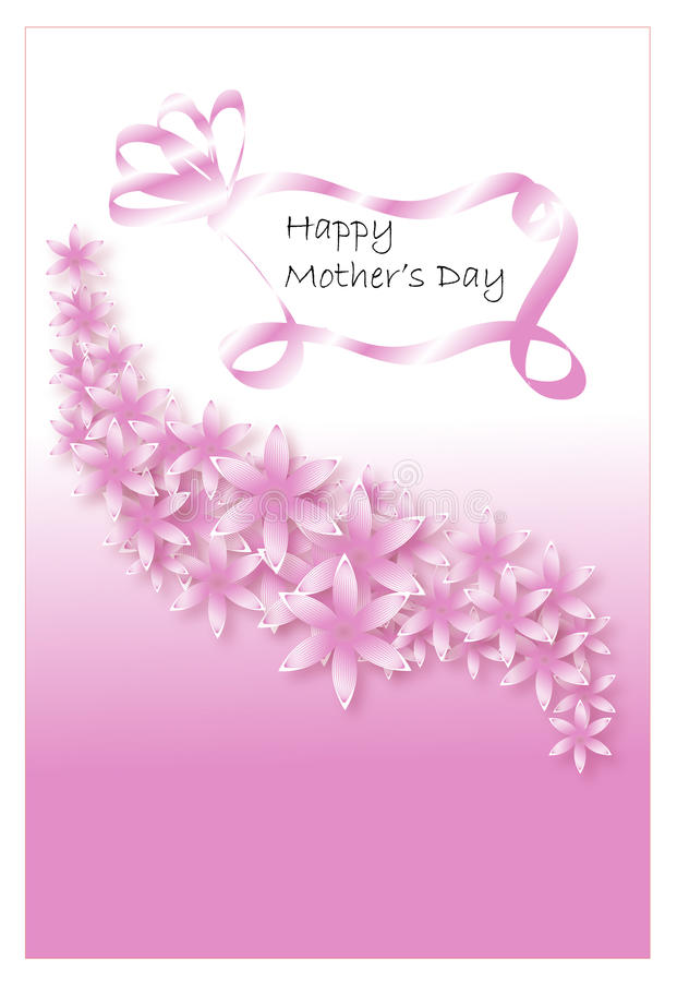 Download Floral background in pink stock illustration. Image of flowers - 34299835