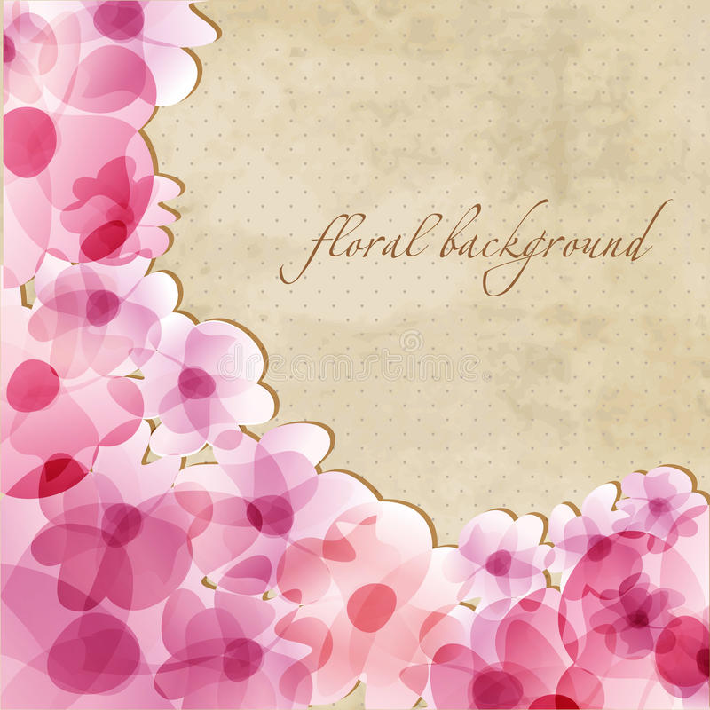 Floral background with pink irises. Floral fresh background with pink irises stock illustration
