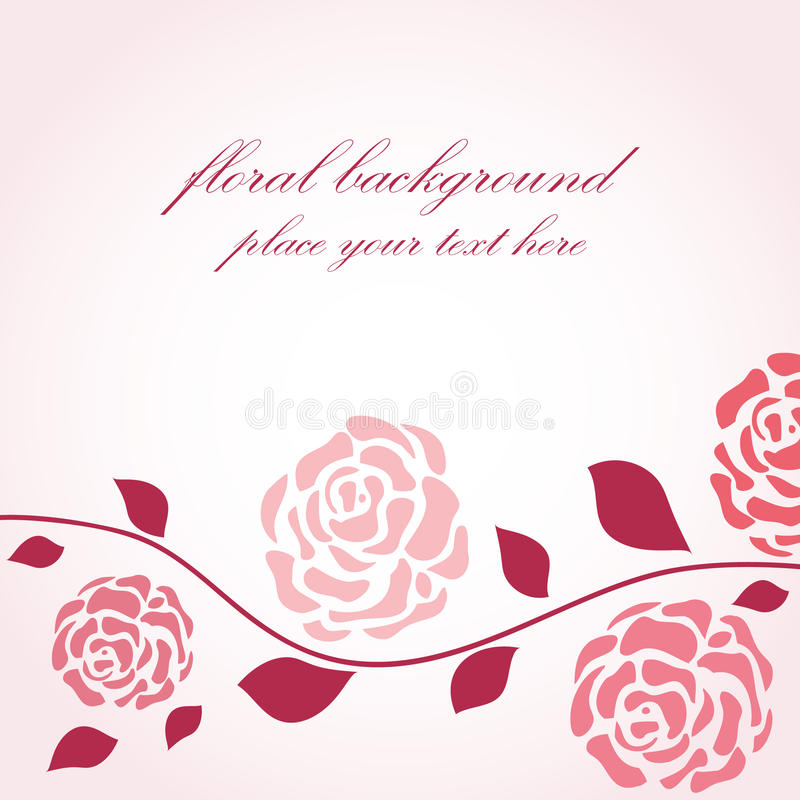 Floral background in retro style royalty free illustration
