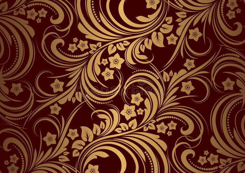 Download Floral Background In Retro Style Stock Vector - Image: 24834715
