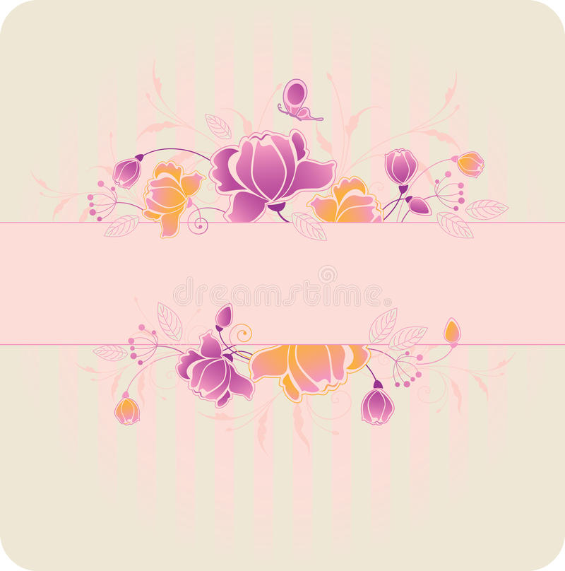 Download Floral Background With Roses Stock Vector - Illustration: 17739261