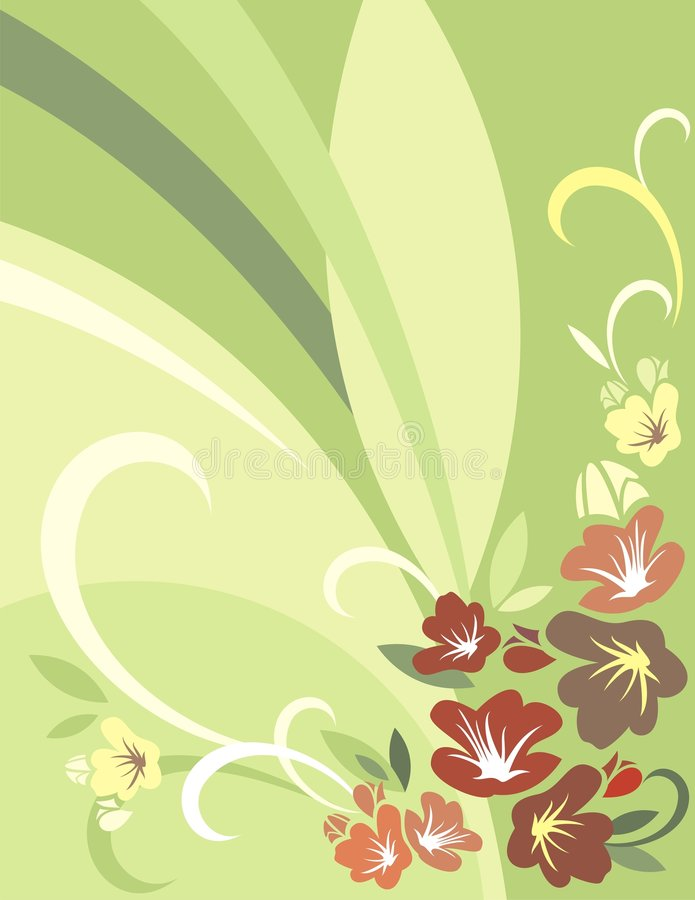 Floral Background Series vector illustration
