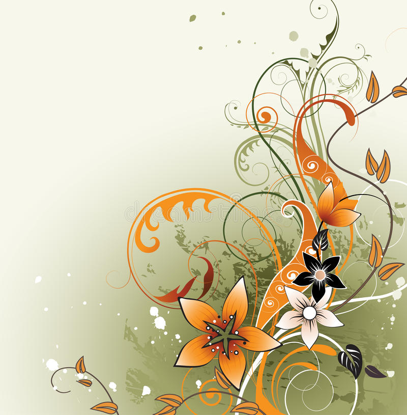 Floral background with space for text royalty free illustration