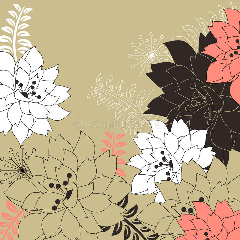Download Floral Background With Stylized Flowers Stock Vector - Image: 18084122