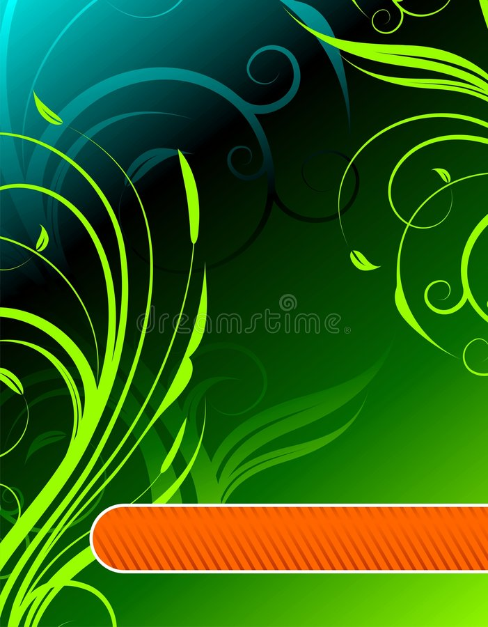 Floral background with text space. Green floral background with text space royalty free illustration