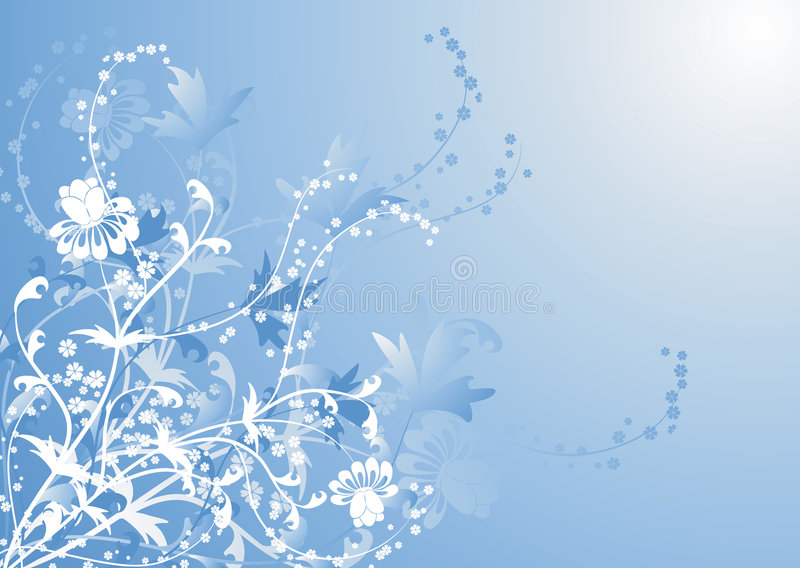 Floral background, vector royalty free stock photo
