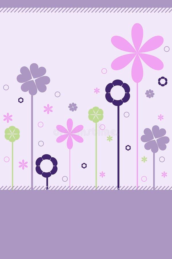 Floral background - vector royalty free illustration
