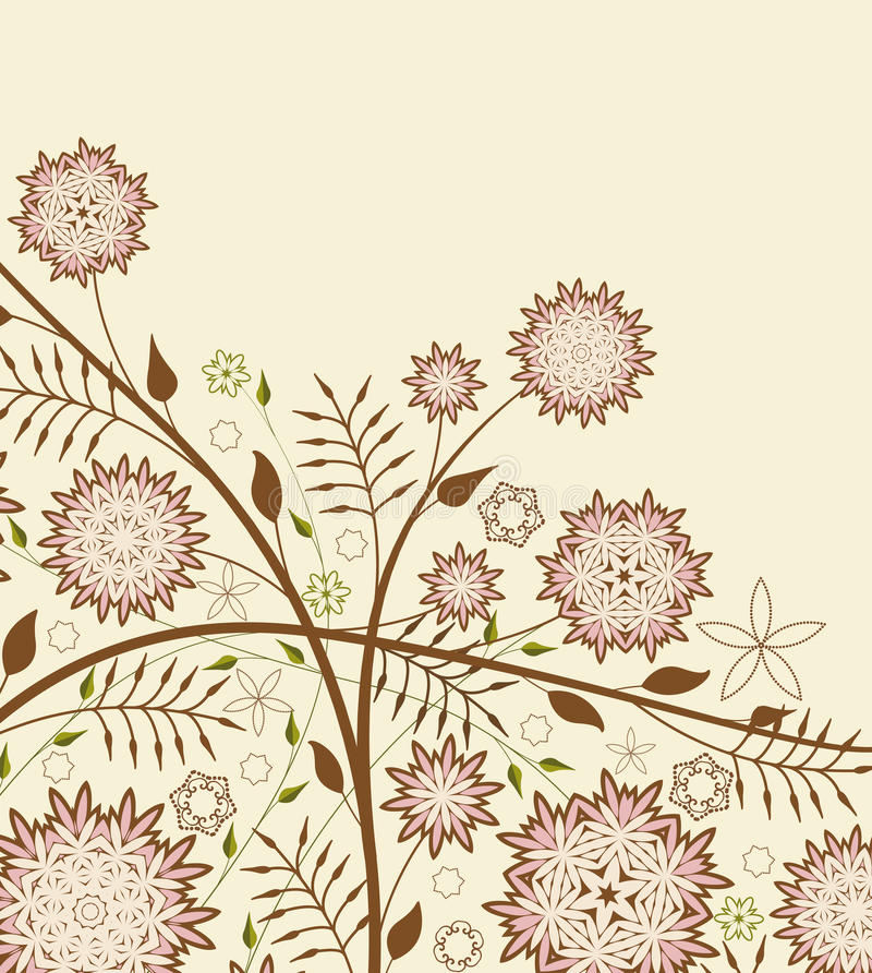 Floral Background. Vector illustration background with decorative flowers and leafs vector illustration