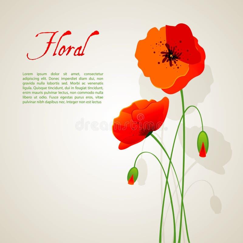 Floral background. Vector illustration (eps 10) of floral background stock illustration