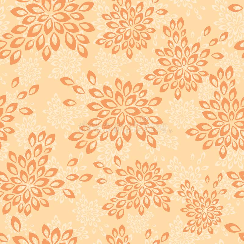 Floral background in vintage style. Seamless pattern with flowers. royalty free illustration