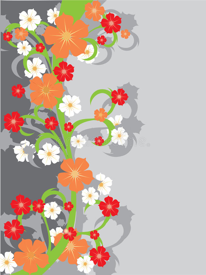 Free Floral Background With Flowers. Stock Image - 30182231