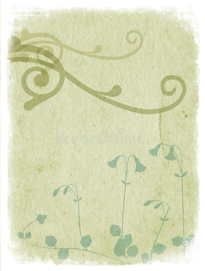 Free Floral Background With Ornaments - Light Green Stock Images - 1257834