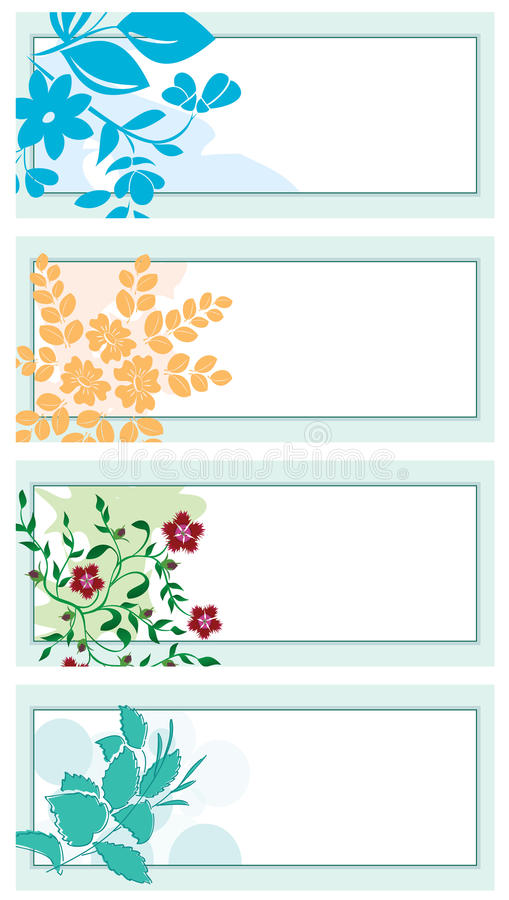 Floral backgrounds with plants - vector royalty free illustration