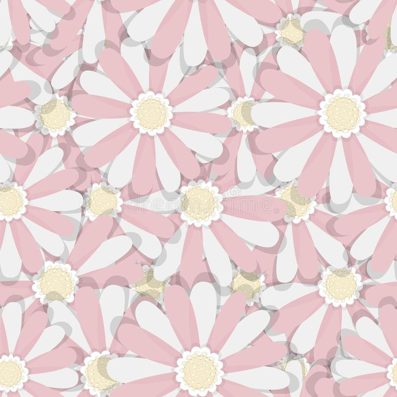 Floral backgrounds. Seamless patterns for textile and wallpapers stock illustration