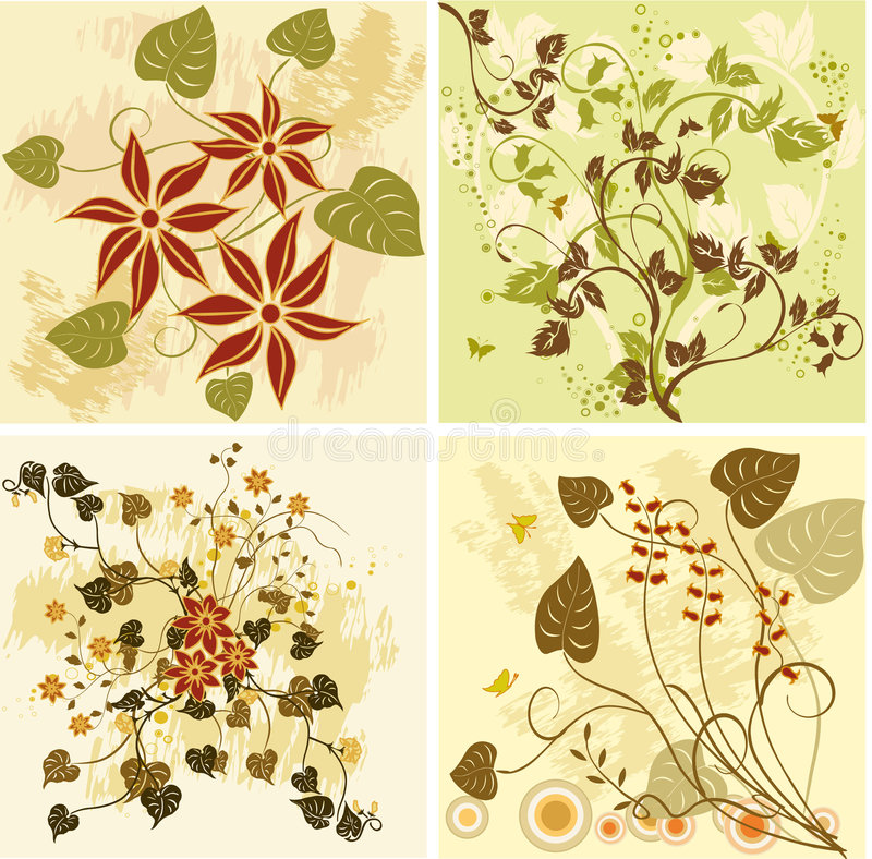 Floral backgrounds - vector vector illustration