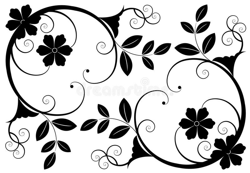 Floral backgrounds stock image