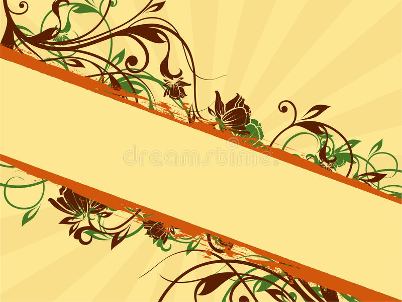 Floral Banner Ornaments Stock Photo