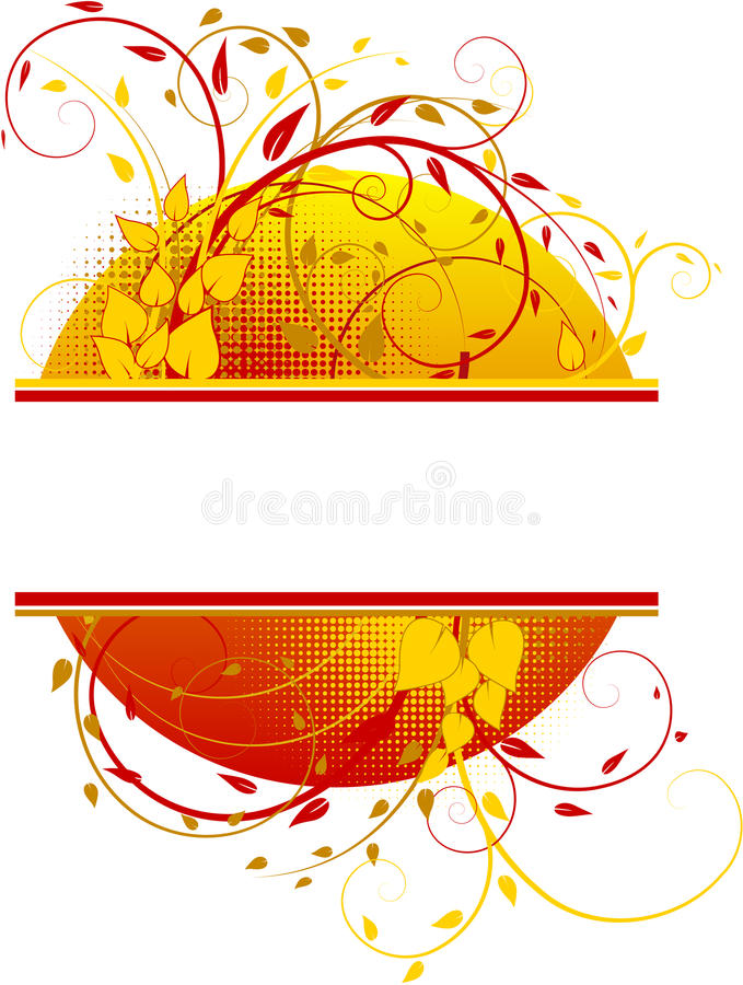 Download Floral Banner With Sun Stock Images - Image: 11016354
