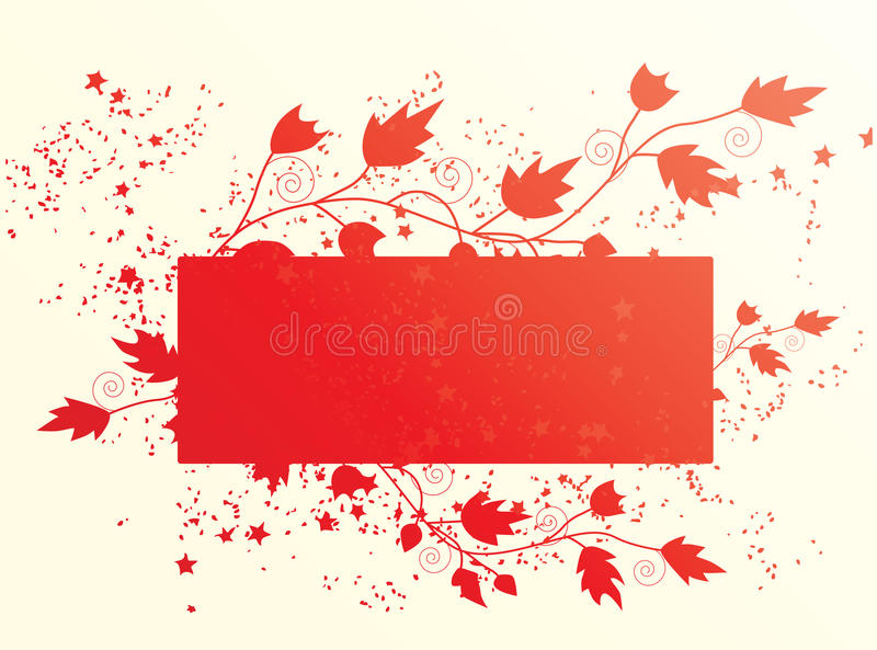 Download Floral banner. Vector. stock vector. Image of halftone - 12007829
