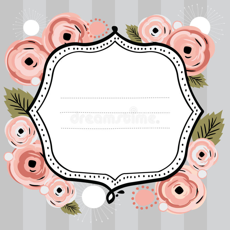 Floral Banner Vector Stock Photo