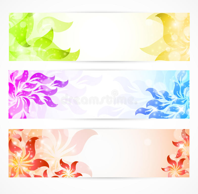 Download Floral Banners stock illustration. Image of color, digital - 21199232
