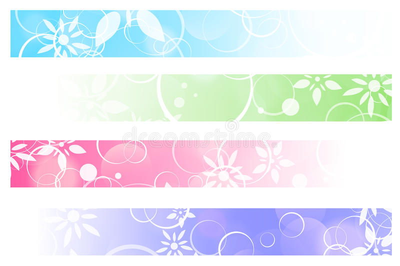 Download Floral Banners stock vector. Illustration of colorful - 32081294