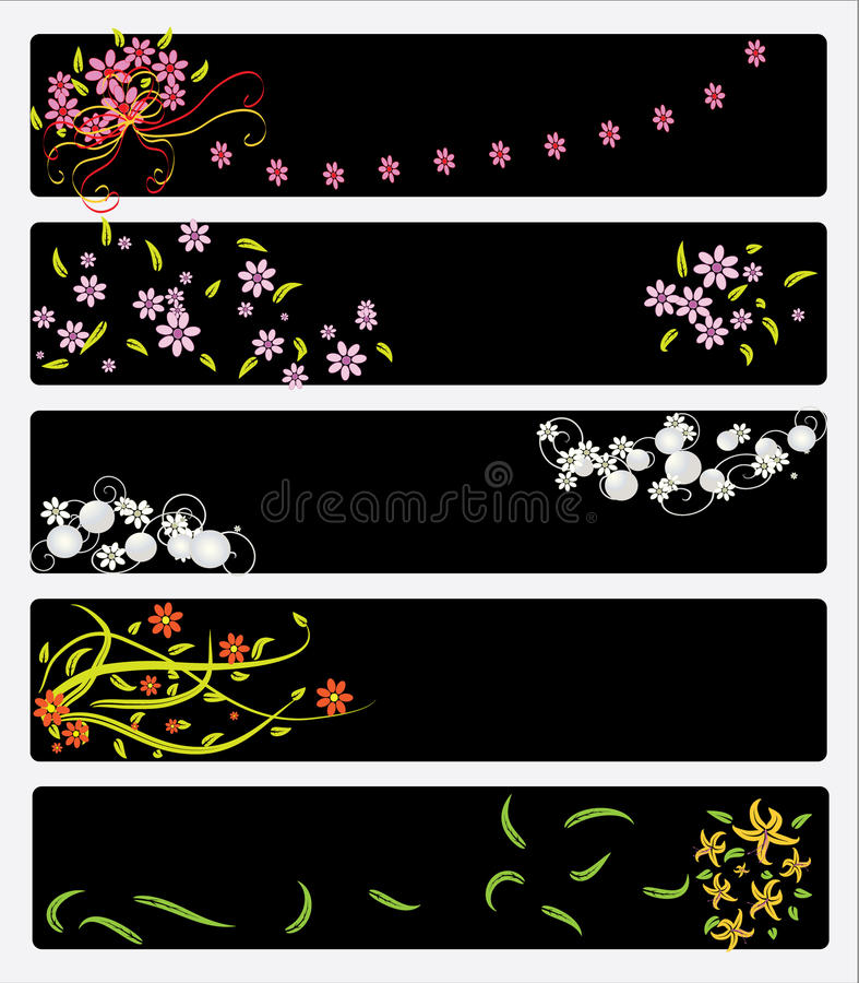 Download Floral Banners stock vector. Illustration of celebrate - 37058089