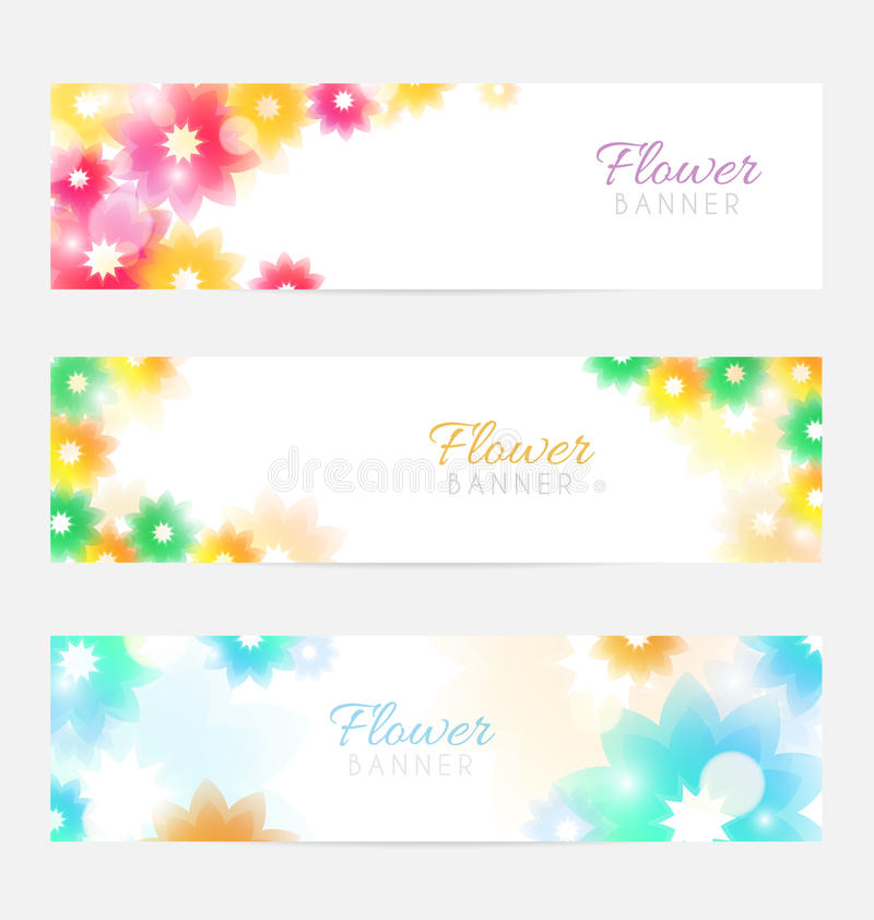Floral banners stock illustration