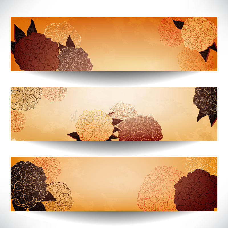 Floral Banners Stock Photography