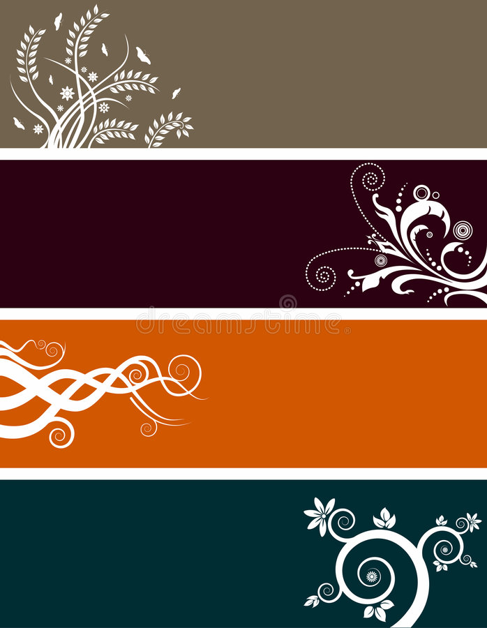 Floral Banners Set Royalty Free Stock Photo