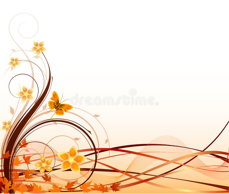Floral beckground vector royalty free illustration
