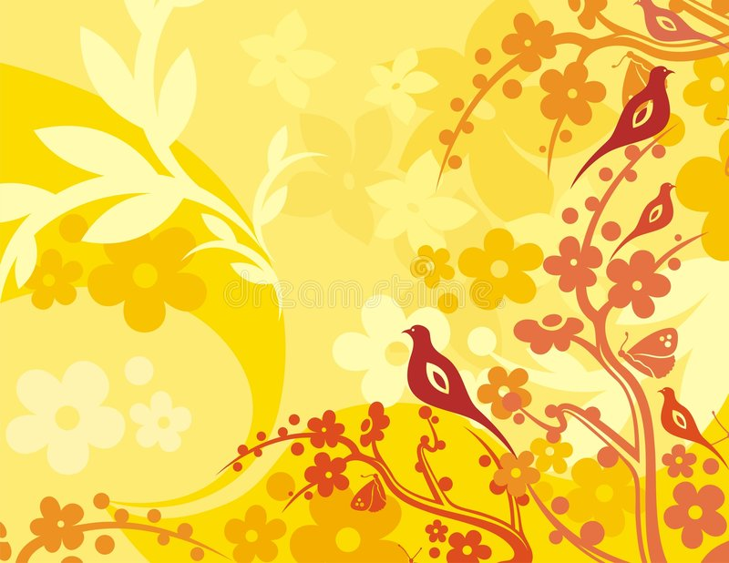 Download Floral Bird Background Series Stock Vector - Image: 1049856