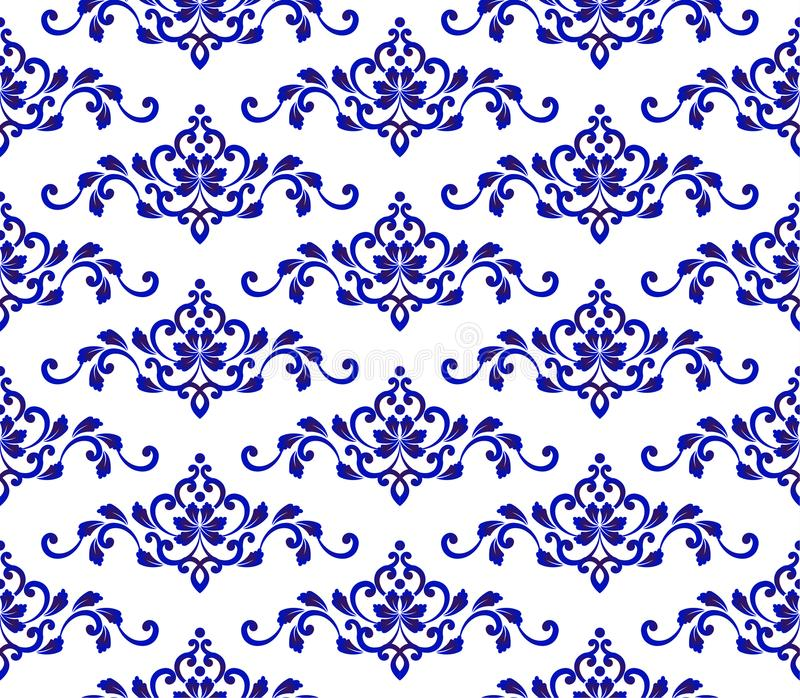 Floral blue pattern stock image