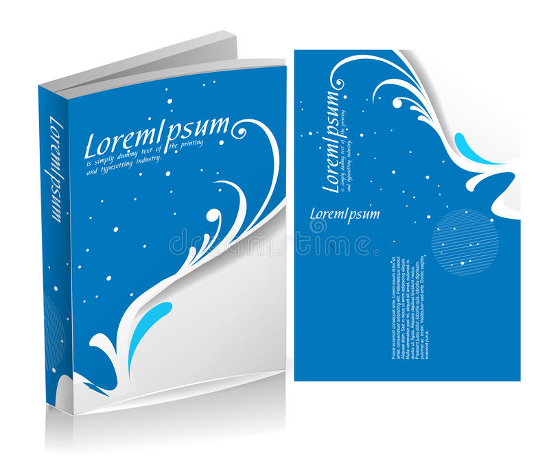 Floral book cover design royalty free illustration