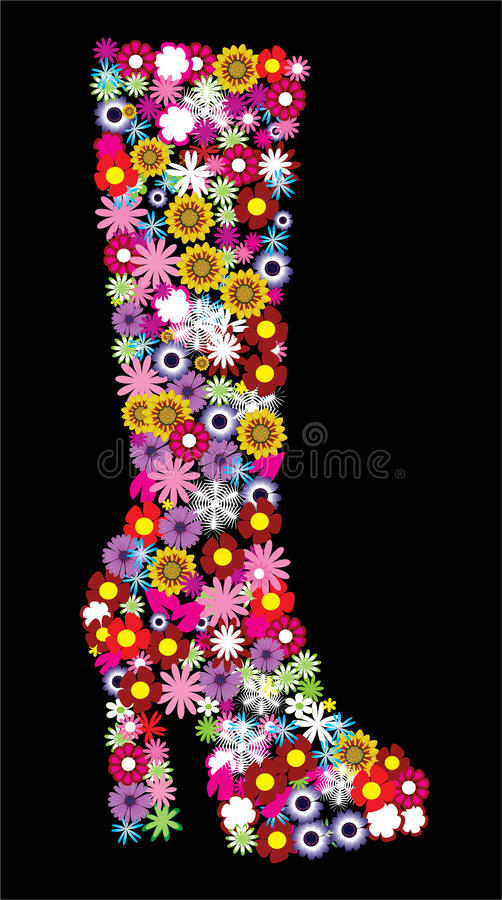 Floral Boot Stock Image