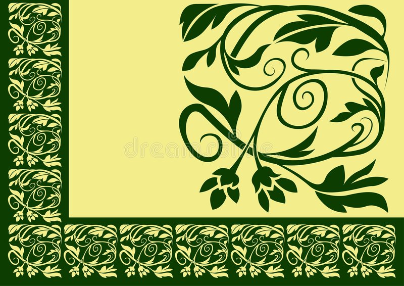 Floral border 02 royalty free illustration