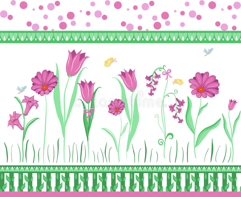 Download Floral border stock vector. Image of drawing, flower - 15235870