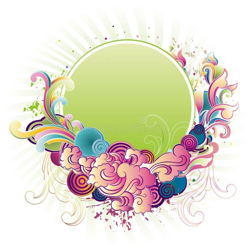 floral border vector illustration