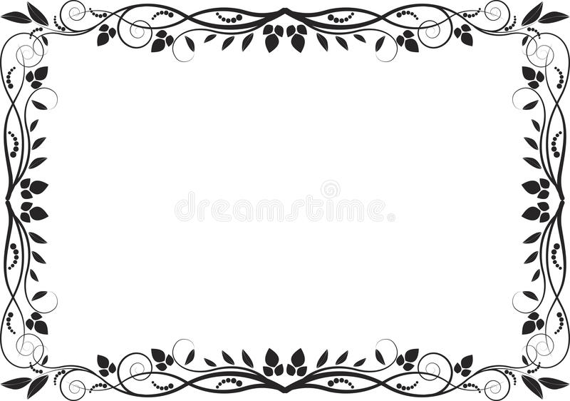 Download Floral border stock vector. Image of decoration, clip - 26947813