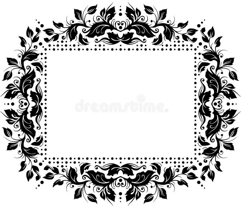 Floral border design royalty free stock image