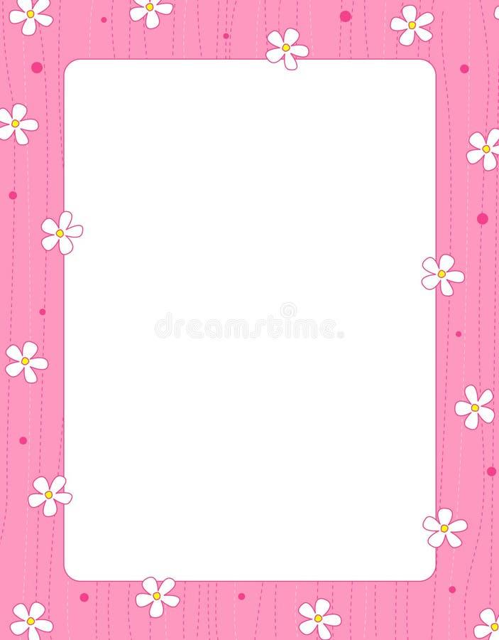 Floral border / frame royalty free illustration