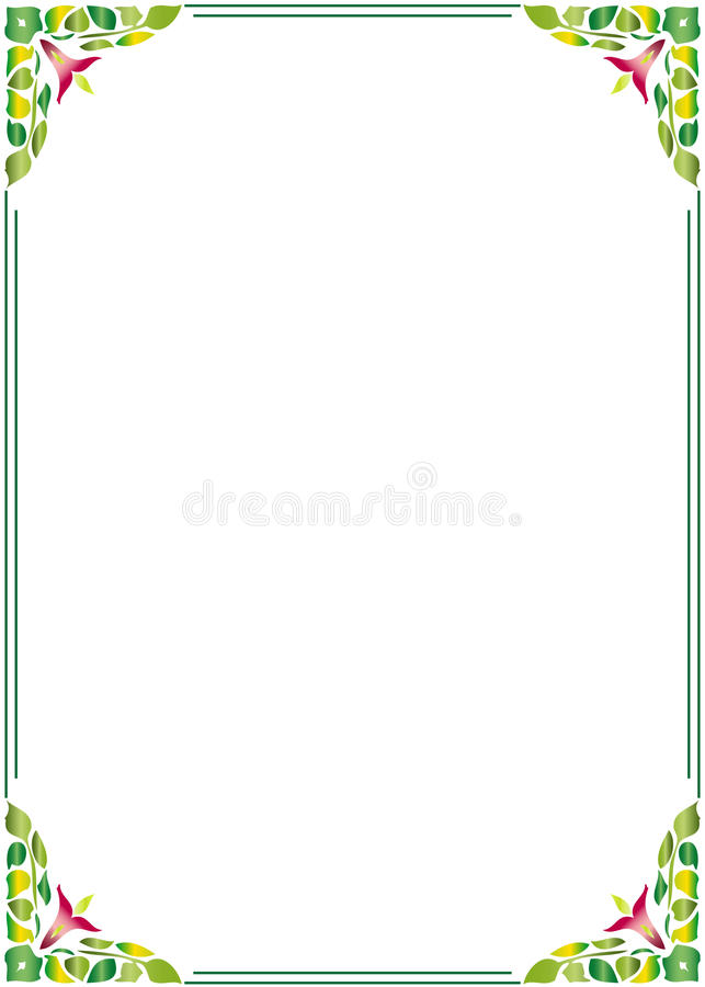 Download Floral border frame stock vector. Image of dirty, border - 13484574