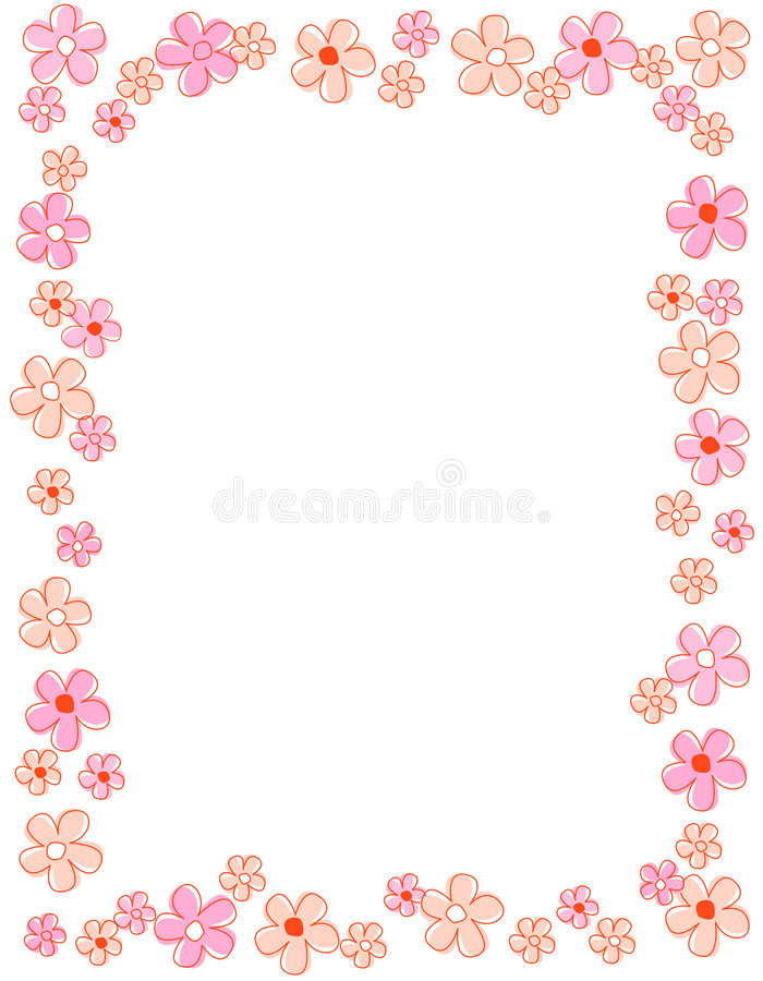 Download Floral border / frame stock vector. Image of background - 8018327
