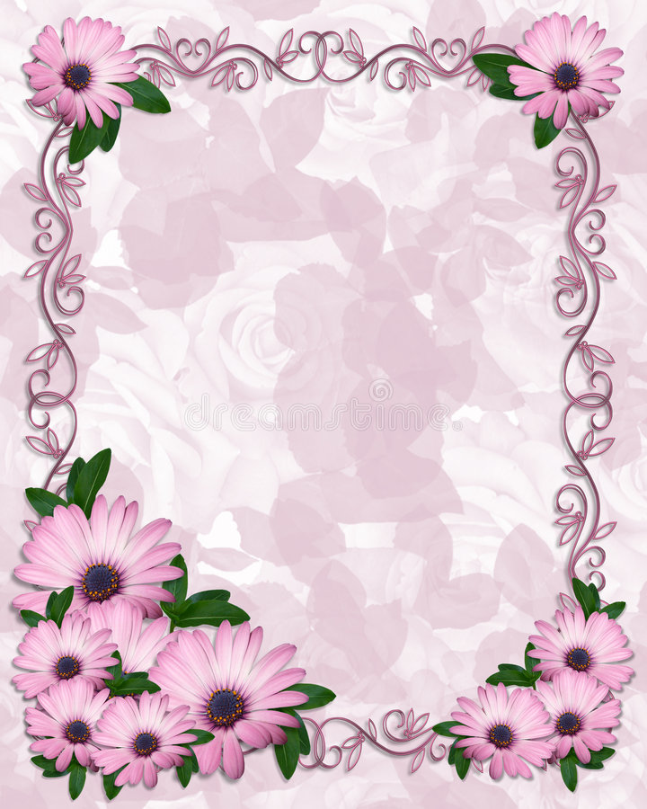 Download Floral Border Purple Daisies Stock Illustration - Image: 8211848