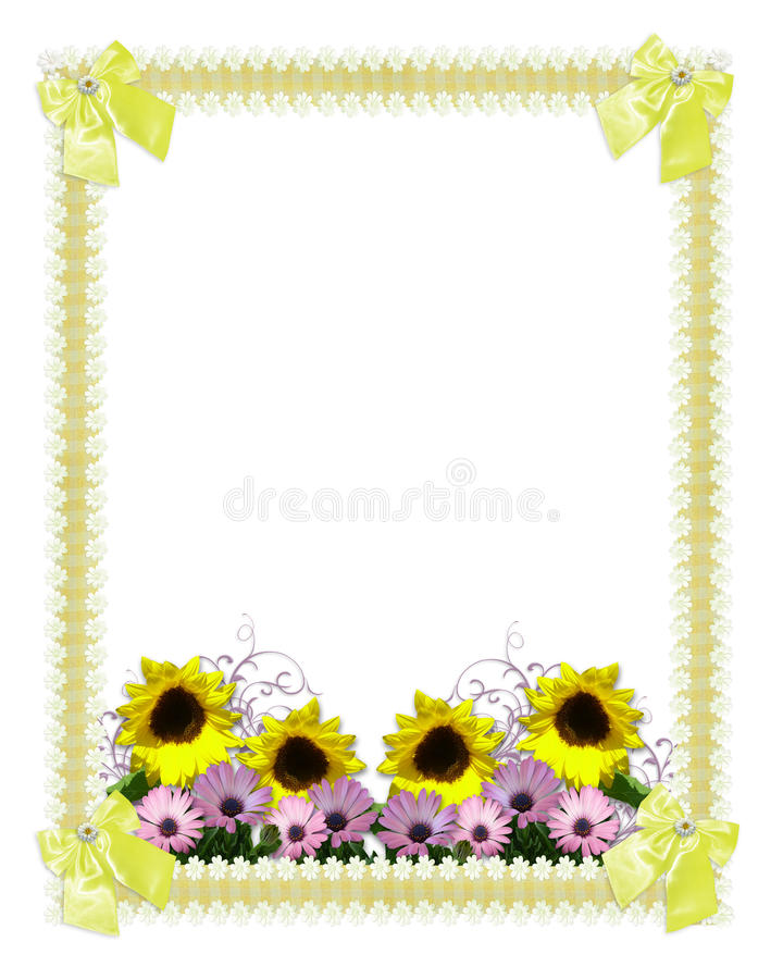 Download Floral Border Springtime Sunflowers Stock Illustration - Image: 13294660