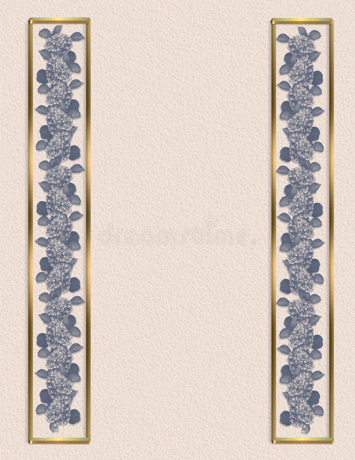 Floral borders blue flowers royalty free stock photos
