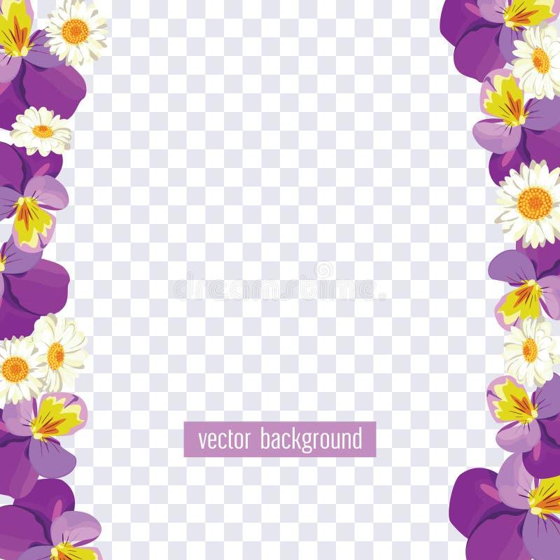 Download Floral Borders On Transparent Background Vector Illustration Stock